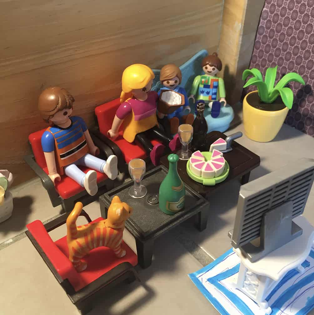 Soirée cinéma mise en scène avec des Playmobils - Activité confinement 15