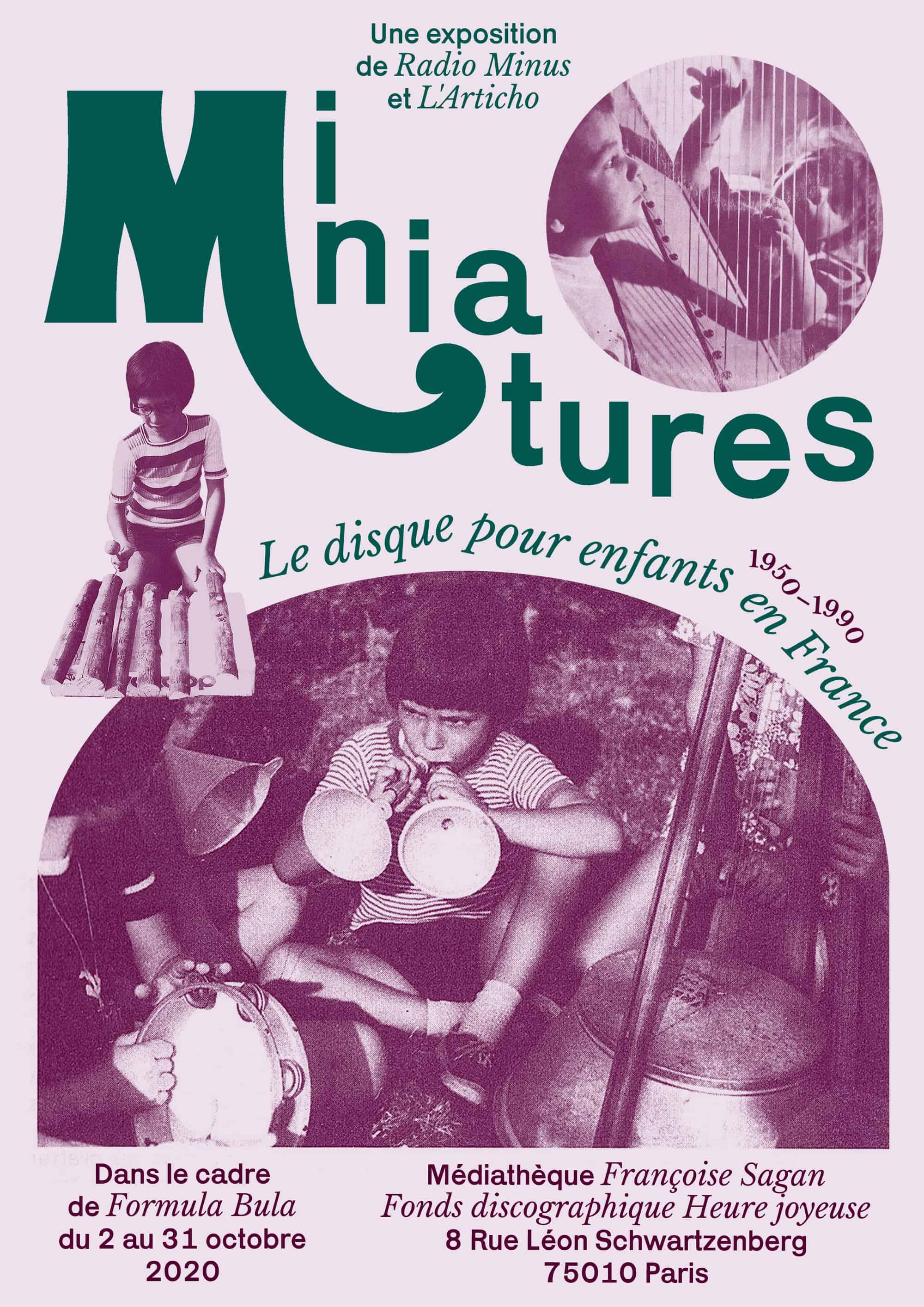 Affiche exposition Miniatures