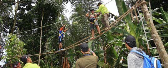 Team Building Bali Puri Hight Rope