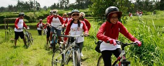 Outing Bali Cycling & Tubing Adventure Ubud Camp