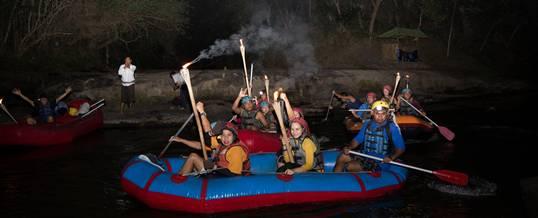 Outing Bali Night Rafting Obor