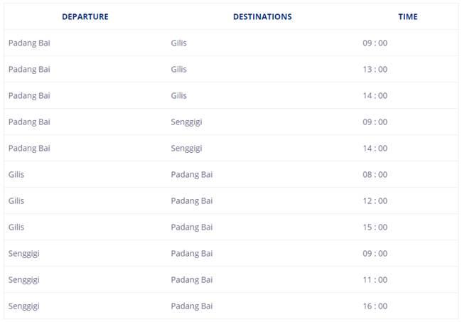 Paket Adventure Bali - Schedule Marina Srikandi