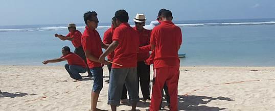 Team Building di Pantai Pandawa Bali KPPN - Sentosa Wisata