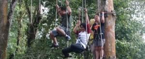 Bali Tree Top WWF Outbound Di Bali Jalan Gelang