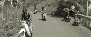 Tema Outing di Bali Dengan Motor C 70