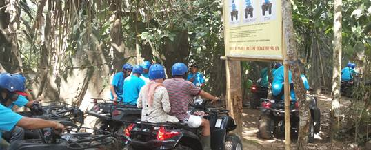 ATV di Bali Indonesia Power Primaxindo Training