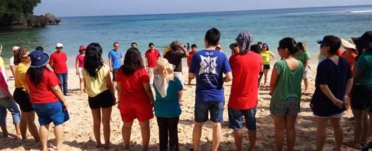 Fun Team Building - HSBC Jakarta - Pantai Padang Padang Bali 3