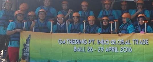 Gathering Tema Wisata Adventure Rafting - PT. Indo Global Trade 9