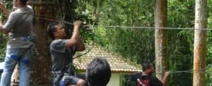 Outbound di Bali Treetop Kebun Raya Bedugul 05