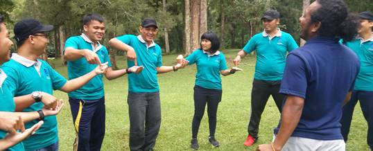 Outbound di Bali Kebun Raya - Ice Breaking Game -Supporting Bugs Training Center 180520171