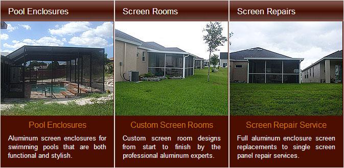 pool enclosures screen room