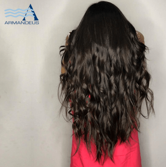 Hair extensions and style done at Salon Armandeus Doral
