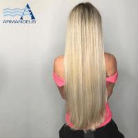 Platinum blonde and hair extensions at Salon Armandeus Doral