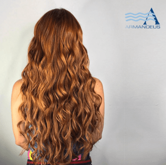 Hair color and extensions done at Salon Armandeus Doral