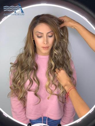 Balayage and hairstyle by Salon Armandeus Doral