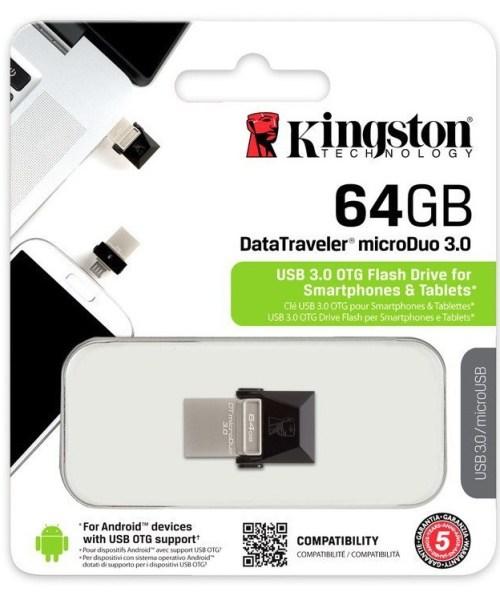 OTG (USB-MICRO) 64GB KINGSTON 3.0