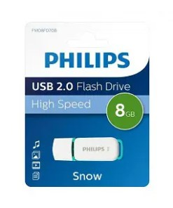 USB 8GB 2.0 SNOW EDITION VERDE PHILIPS (FM08FD70B)