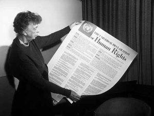 Eleanor Roosevelt la Dichiarazione universale dei diritti umani