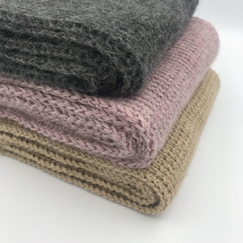 bufandas en lana de alpaca de la firma ARMATTA