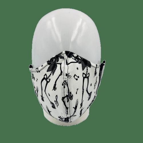 Mascarilla blanca esqueletos 4