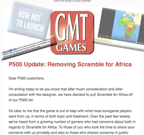 Conflicts Around the Table & GMT Gets To Publish Whatever They Want