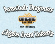 Origins 2019 Event Listings