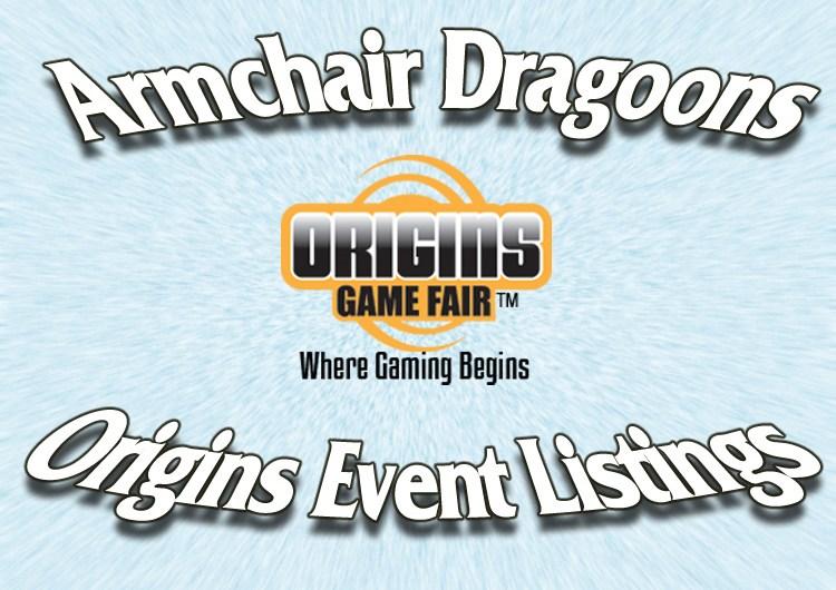 Origins 2019 Event Listings