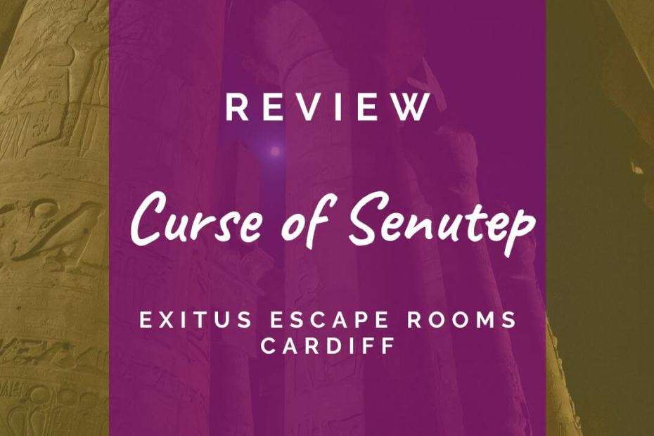 Curse of Senutep review at Exitus Escape Rooms Cardiff