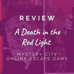 Mystery City  -A Death in the Red Light [REVIEW]