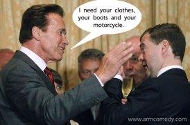 Medvedev Schwarzenegger
