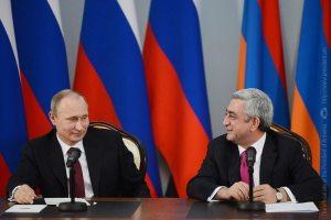 Sahakyan 3: President Serge Sargsyan and Russian President Vladimir Putin in Yerevan in Dec., 2013. (Photo: President.am)