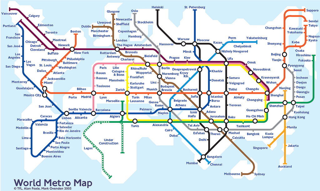 Map Monday Worldwide Hyperloop transit map