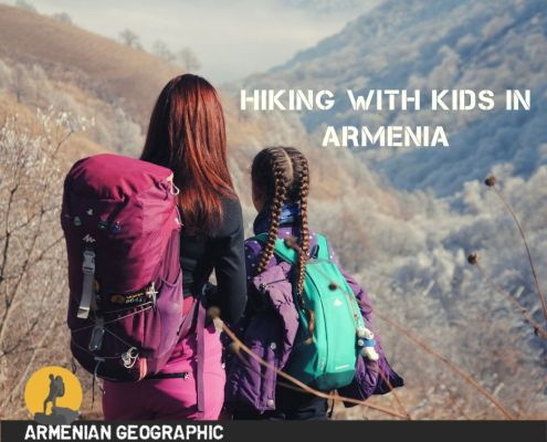 hiking with kids in Armenia