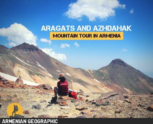 climbing Aragats and Azhdahak mountains