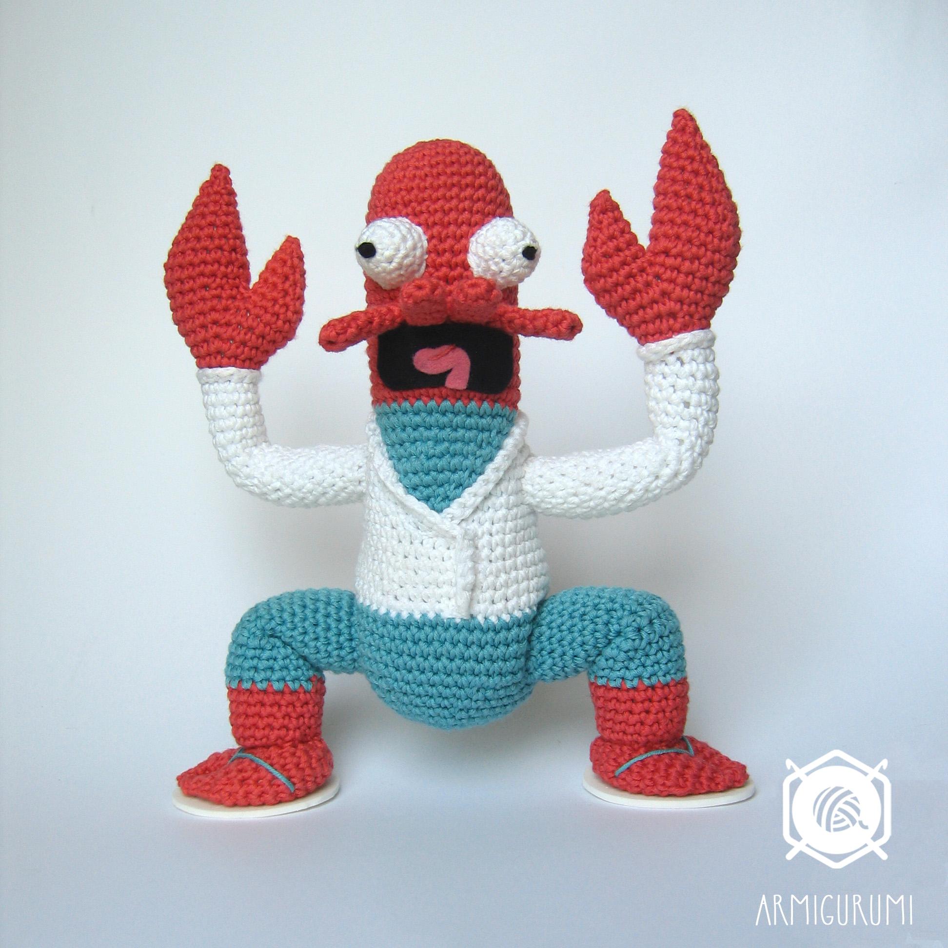 Futurama's Dr. Zoidberg amigurumi crochet pattern by Armigurumi