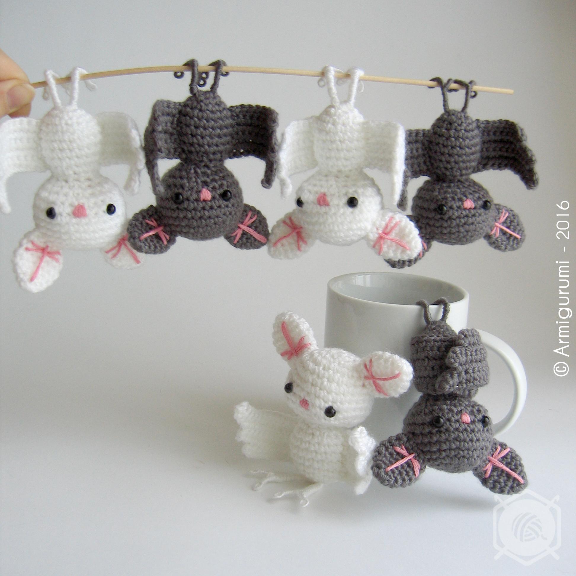 Decorative Little Bats Amigurumi by Armigurumi