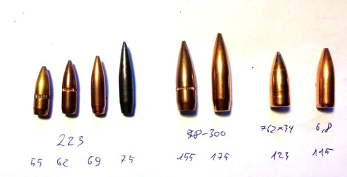 300AAC Blackout - Confronto palle