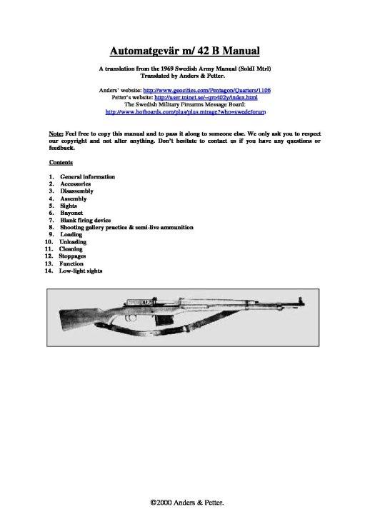 AG42B Manual