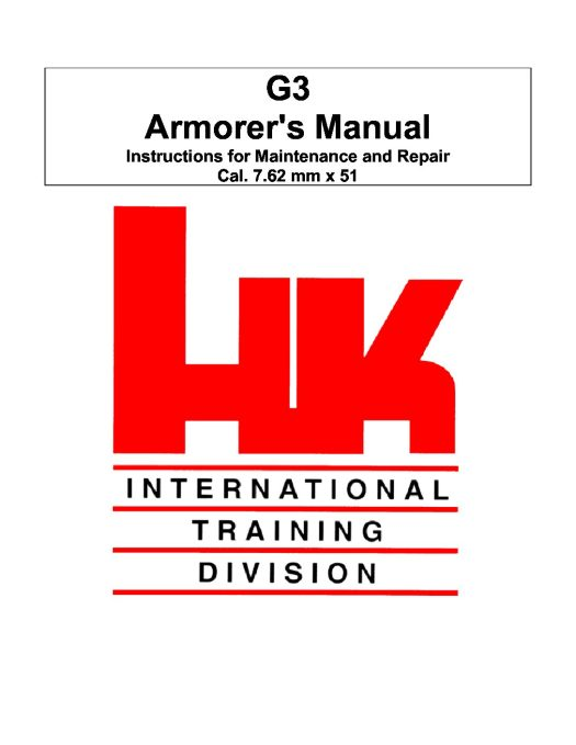 Heckler & Koch G3 Armorer Manual