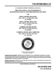 TM 055387/10012-IN  M16 TECHNICAL MANUAL