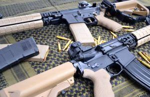 Vista d'insieme della coppia di straordinari AR15 made in USA