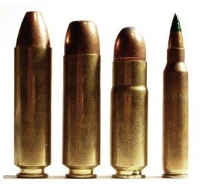 .50 Beowulf, .450 Bushmaster, .458 Socom e 556 × 45 mm NATO