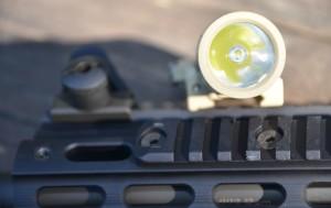 La campana vista frontalmente, un singolo LED, ma davvero molto potente