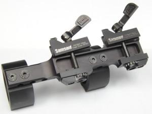 Le due leve si serraggio registrabili aperte.