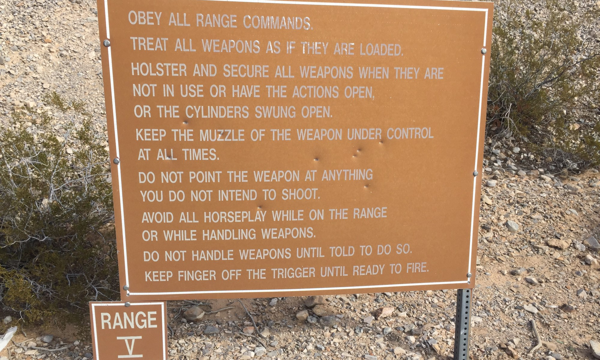 Nellis Air Force Base Shooting Rules
