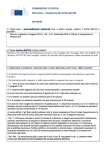 Denunzia alla Commissione Europea contro lo Stato italiano E.Mori