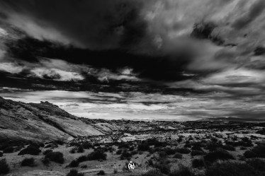 The Valley of Fire in Black and White