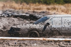 Subaru in the mud