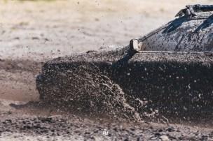 Subaru in the mud