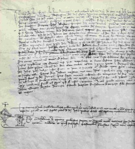 A condotta signed between Jpohn Hawkwood and Florence in the 1380s